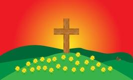 Spring Cross vector illustration