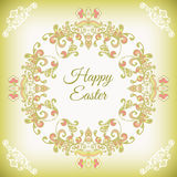 Spring cute floral  frame vector Stock Photo