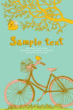 Spring cycling card design Royalty Free Stock Image