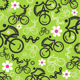 Spring cycling decorative background Royalty Free Stock Photos