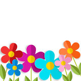 Spring 3d flowers isolated on white. Vector EPS10. Stock Photo