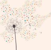 Spring dandelion illustration royalty free illustration