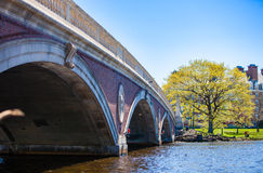 A Spring Day in Cambridge. The Weeks bridge on Harvard campus on a nice spring day Royalty Free Stock Photos