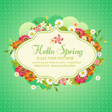 Spring day. Flower wreath in spring theme Royalty Free Stock Image