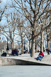 Spring day at London's South Bank Royalty Free Stock Photos