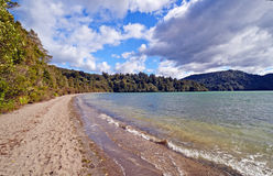 Spring Day on a New Zealand Lake Royalty Free Stock Images