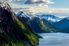 Spring day in Norway. A beautiful spring covered the Norwegian landscapes Royalty Free Stock Photography