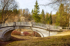 Spring day at the Park of Pavlovsk. Saint Petersburg. Russia Royalty Free Stock Images