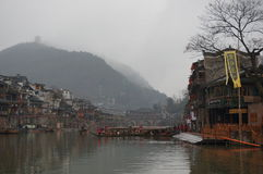 Spring Day by the river of Fenghuang Ancient Town Royalty Free Stock Photography