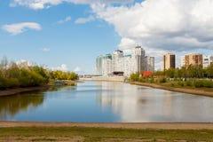 Spring day on river Kuban. Krasnodar. Russia Stock Photography