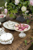 Spring decorated table Stock Photography