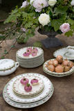 Spring decorated table Stock Photos