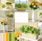 Spring decoration collage Royalty Free Stock Photography