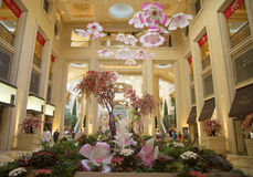 Spring decorations in the atrium of The Palazzo Resort Hotel Casino in Las Vegas Royalty Free Stock Photography