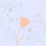 Spring decorative background. Spring decorative light blue background Royalty Free Stock Image