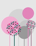 Spring design. Illustration of a retro spring backfround for your design with abstract trees.EPS file available Stock Photography