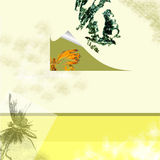 Spring Design. A sprinttime theme abstract background with page curl stock illustration
