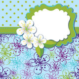 Spring Design template.Cherry flowers background a Stock Images