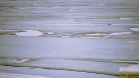 Spring destruction of ice at the seashore stock footage