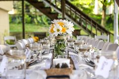 Spring Dinner Party royalty free stock photography