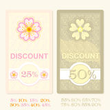 Spring discount tags Royalty Free Stock Photography