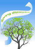 Spring discounts Royalty Free Stock Photography