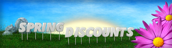 Spring Discounts background template Stock Image