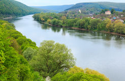 Spring Dnister river, Ukraine Stock Photo