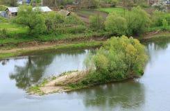 Spring Dnister river, Ukraine Stock Photos