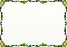 Free Spring Doodle Page Border Decoration Stock Photography - 98741752