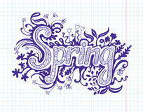 Spring doodles Royalty Free Stock Photography