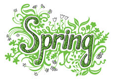 Spring doodles Stock Photography