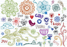 Spring Doodles. Vector drawn objects, useful for designing Royalty Free Stock Photos