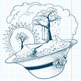 Spring doodles Stock Image