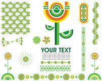 Spring Dots set of elements. Vector collection od editable isolated design elements Royalty Free Stock Image