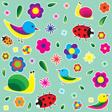 Spring draw pattern Stock Photography