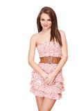 Spring dress brunette. Stock Image