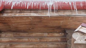 Spring drops, icicles stock footage