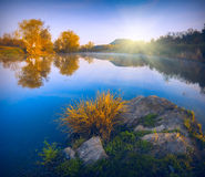 Spring early morning on a lake_1 Royalty Free Stock Photo