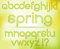 Spring easter alphabet Royalty Free Stock Images