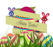 Spring Easter background with egg. Royalty Free Stock Photo
