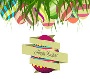 Spring Easter background with egg. Royalty Free Stock Images