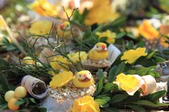 Spring easter background Stock Images