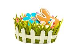 Spring Easter basket Stock Photos