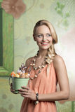 Spring easter blonde girl Royalty Free Stock Photo