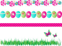 4 Spring Easter Borders Decorative Vector Stock Images