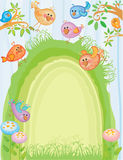 Spring easter card Stock Image