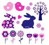 Spring and easter design elements set ( vector ) Stock Photography