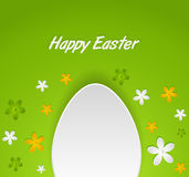 Spring Easter egg card Royalty Free Stock Images