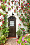 Spring and Easter Flowers Decoration of Old House, Spain, Europe Stock Photo